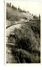 E523 RP 1944 PGE PACIFIC GREAT EASTERN RR TRAIN SODA CREEK BC HEADED VANCOUVER