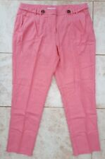 BHS Petite Ladies Size 12 Coral Pink Crop Trouser Shorts Capri Holiday Fashion
