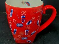 Starbucks Barista Mug 2002 Red White Blue USA Fireworks 4th July Cup 22 Oz Rare