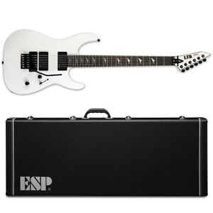 ESP LTD M-1000 E Ebony Snow White SW Electric Guitar + Hard Case