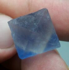 Bright Blue Fluorite Octahedron Crystal Gem Mineral New Mexico Blanchard 60