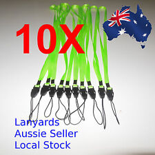 10 X - Green Neck Lanyards 70cm around or 35cm long -  Aussie Seller