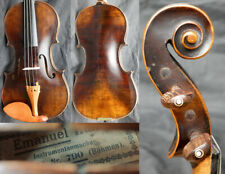 Fine 4/4 Antique Bohemian Baroque Violin, lab: E. HULLER +Video ! 19th Fiddle ge