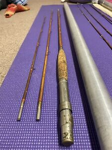 "FE Thompson Montague Chubb? 8' 6"" Bamboo Fly Fishing Rod Circa 1907-1923"
