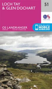 Loch Tay & Glen Dochart Landranger Map 51 Ordnance Survey Latest