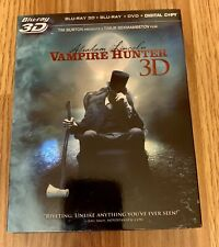 Abraham Lincoln: Vampire Hunter 3D (Blu-ray/DVD, 2012, 3-Disc Set)