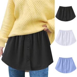 Women's Shirt Extender Underskirt Mini Skirt Inside Layered Lace Top Elastic 3XL