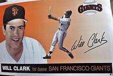Will Clark San Francisco Giants Full Size Poster Baseball Vinatge