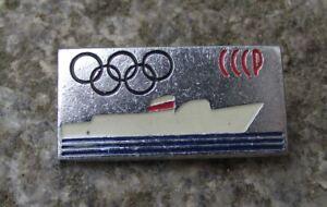 1980 Black Sea Shipping Company Soviet Union Olympic Games Ship CCCP Pin Badge
