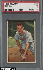 1952 Bowman SETBREAK #19 Bob Cain St. Louis Browns PSA 7 NM