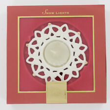 New Lenox Snow Lights - Snowflake Tealight Candle Holder