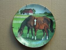 "Danbury Mint ""Morning On The Farm"" By Donald W Patterson Porcelain Plate, 1991"