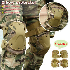 Tactical Military Army Elbow & Knee Pads Airsoft Paintball Sports Protection