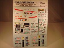 LOT DECALS 1/43 CHEVROLET CORVETTE C6R PART2 - COLORADO  DCV002