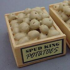 Potato Crates (2) Miniatures 1/24 Scale G Scale Diorama Accessory Items