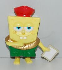 "2007 Grass Skirt & Red Hat 4"" Burger King Atlantis Figure Spongebob Squarepants"