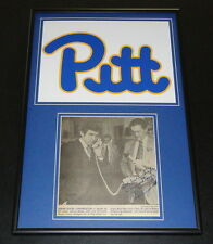 Cas Myslinski Signed Framed Newspaper Photo Display Pitt w/ Johnny Majors