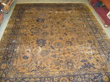 Semi Antique Turkish Rug Wool Hand Knotted 7'-10 x 10' Repairmans Dream