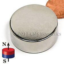 "Neodymium Magnet N42 Dia 1 1/4"" x 1/2"" NdFeB Rare Earth Disk Magnets Lot 4"