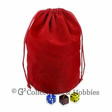 NEW Extra Large Red Velveteen Dice Bag RPG D&D 8x7.5 Counter Pouch