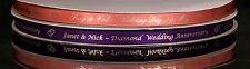 50m x10mm Personalised Ribbon Invitation Wedding Favour Christening