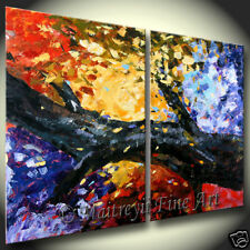 Abstract Art modern Artwork Red Oil Paintings Landscape Art by Maitreyii