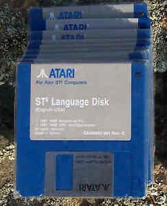 """Atari STE LANGUAGE Disk DSDD 2 each BLUE Disk 3.5""""/3 1/2""""  NEW"""
