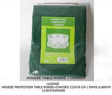 Telo di protezione copertura copritavolo per tavolo tondo con sedie cm213*76