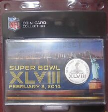 Super Bowl XLVIII Highland Mint Etched Silver Plated Coin NFL Merchandise NEW