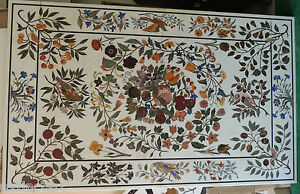 Table Top Extra Large Pietra Dura Marble Inlay Furniture Dining Micro Mosaic