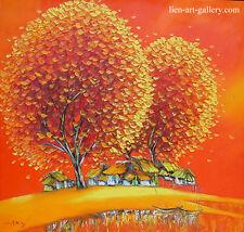 Warm house OOP orig oil painting  95x90cm Son Minh Nguyen b1971 VUFA2001 USA2006