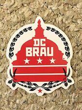 DC BRAU BREWING COMPANY Beer STICKER with Capitol Bldg. & Hops, WASHINGTON, D.C.