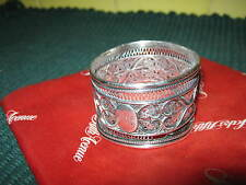 Intricate SILVER WIREWORK NAPKIN RING, Indo Persian? Circa 1900? HEART DESIGN