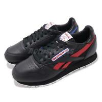 Reebok CL Leather SO Classic Black Red Vintage Mens Retro Running Shoes BS5208