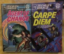 Lot Of Steve Miller Sharon Lee Books Agent Of Change & Carpe Diem