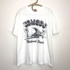 Komodo Dragon National Park Graphic T-Shirt Double Sided Men's XL (Looks Like L)