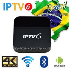 2018 Newest IPTV6 TV BOX Brazilian Portuguese 4K SAME AS HTV5 A2 200+ LIVE TV CH