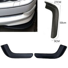 2x Black Racing Style Car Front Bumper Moulding Winglet Canard Spoiler Lip Cover