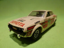 SOLIDO 1:43 TOYOTA CELICA - RALLY LOMBARD 18 - RARE SELTEN - GOOD CONDITION