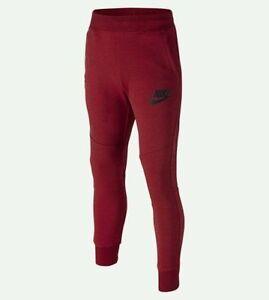 Nike Tech Fleece Pants Boy's Size Small (8-9) / Gym Red and Black