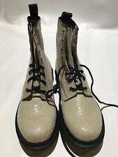 Dr Martens Suede Snakeskin UK 6 EUR 39 Womens US 8 Beige Leather NEW Fits 8.5