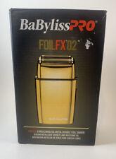 BaByliss PRO FOILFX02 Cordless Metal GOLD Double Foil Shaver - FXFS2G