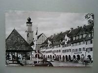 Ansichtskarte Freudenstadt Schwarzwald Rathaus mit Arkaden 50er?