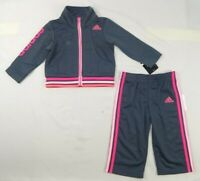 Adidas baby girls' set, 2 piece Tracksuit Jacket & pants size 18 months