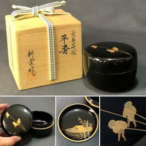 Tea Caddy Ceremony Natsume Sado Japanese Traditional Craft a182
