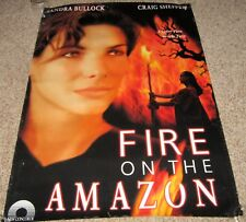 FIRE ON THE AMAZON Movie Poster Sandra Bullock Craig Sheffer Judith Chapman