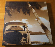 Vintage Woody Beach Palm Tree Surfing Surfboard Surfer Home Decor Photo Sign