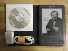 Amazon Kindle Keyboard- 3G-Wi-Fi-1400 Books on CD-No Ads-Bundle-See Pictures