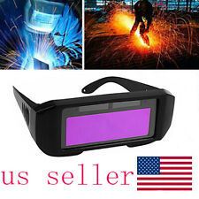 Solar Powered Auto Darkening Welding Helmet Eyes Welder Glasses US