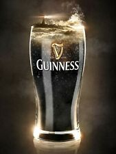 Guiness Glass, Retro Vintage Metal Sign, Pub, Bar, Man Cave